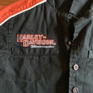 Harley-Davidson Shirts & Tops - Harley Davidson Button Down Short Sleeve Shirt
